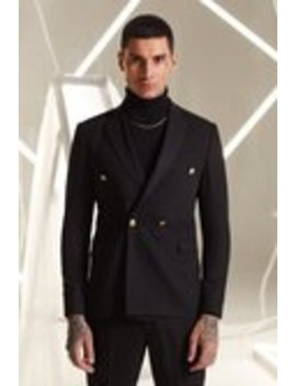 Relaxed Fit Double Breasted Suit Jacket by Boohoo Man