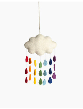 Craftspring Rainbow Drops Cloud Ornament by Madewell
