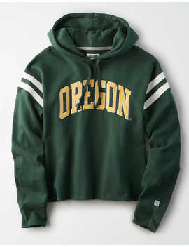 Tailgate Women's Oregon Ducks Cropped Fleece Hoodie by American Eagle Outfitters