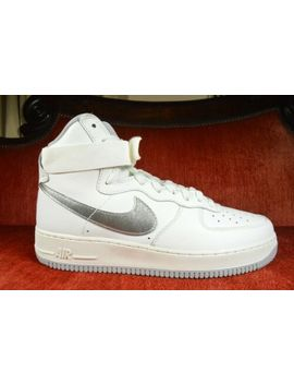 New Nike Air Force 1 Hi Retro Qs Summit White Wolf Grey 743546 101 Mens Size 9 by Nike