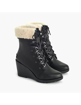 Women's Sorel® After Hours™ Lace Up Shearling Boots by Women's Sorel