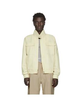 Yellow Japanese Workwear Harrington Jacket by Random Identities