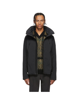 Black Hard Shell Creas Jacket by Descente Allterrain