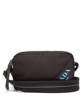 Debossed Logo Nylon Cross Body Bag by Prada