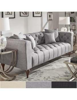Danise Tufted Linen Upholstered Tuxedo Arm Sofa By I Nspire Q Artisan   Beige Linen   Sofa by I Nspire Q