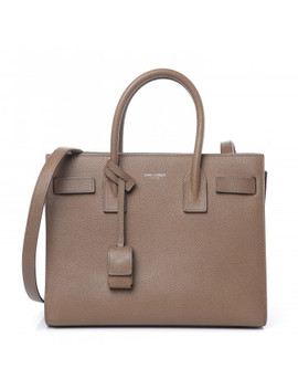 Saint Laurent Grained Calfskin Baby Sac De Jour Dark Beige by Yves Saint Laurent
