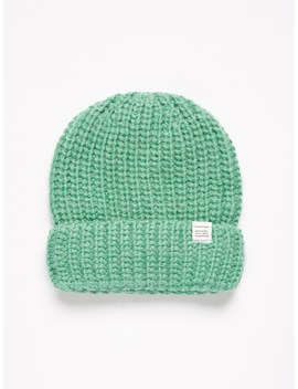 Fuzzy Beanie In Winter Green by Frank & Oak
