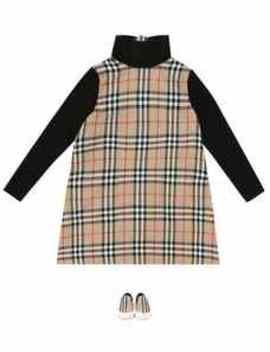 Vintage Check Wool Dress by Burberry Kids