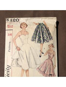 Vintage Simplicity Sewing Pattern S.120 by Etsy