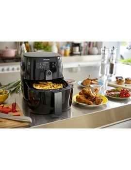 Hd9742/93 Airfryer Twin Turbostar Digital Black by Philips
