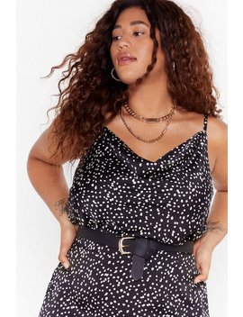 Dot What They Deserved Plus Cowl Top by Nasty Gal