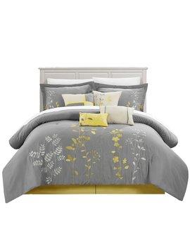 Yellow Lovejoy 12 Piece Comforter Set by Red Barrel Studio