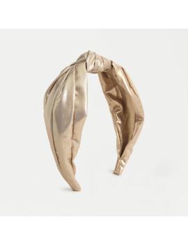 Turban Knot Headband In Gold Lurex® by Turban Knot Headband In Gold Lurex