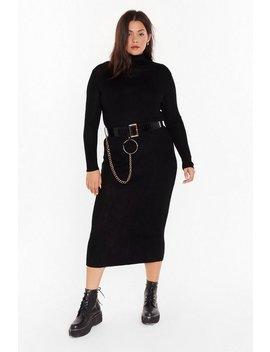 Take No Knit Plus Ribbed Midi Dress by Nasty Gal