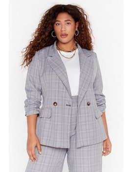 Not At Your Check And Call Plus Blazer by Nasty Gal