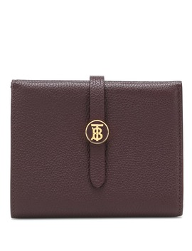 Tb Leather Wallet by Burberry
