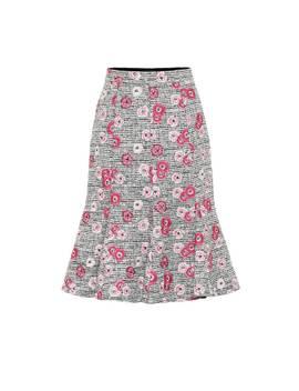 Floral Embroidered Tweed Skirt by Giambattista Valli