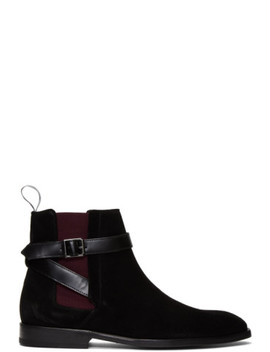 Black Suede Harrow Chelsea Boots by Ps By Paul Smith