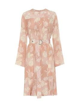 Floral Silk Satin Dress by Chloé