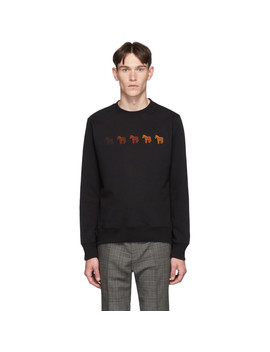 Black Zebras Regular Fit Sweatshirt by Ps By Paul Smith