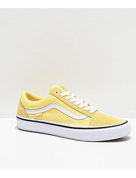 Vans Old Skool Pro Pale Banana & White Skate Shoes by Vans