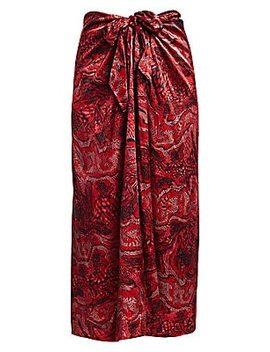 Silk Stretch Long Skirt by Ganni