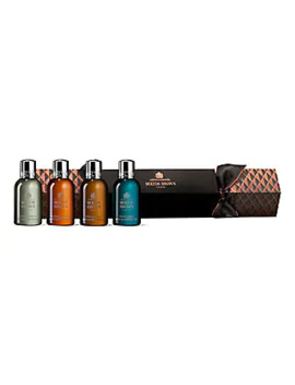Aromatic & Woody Christmas Cracker 4 Piece Bath & Shower Gel Set by Molton Brown