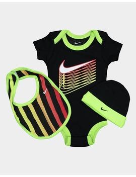 Nike Kids Multi Coloured Swoosh 3 Piece Box Set Black by Nike