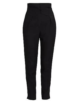 High Waist Pants by Saint Laurent