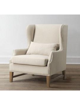 Devon Linen Wing Chair by Tov Furniture