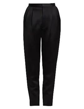Satin Straight Leg Pants by Saint Laurent