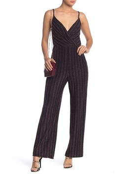 Stripe Metallic Jumpsuit by Row A
