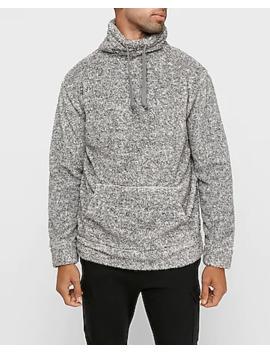 Sherpa Funnel Neck Sweatshirt by Express