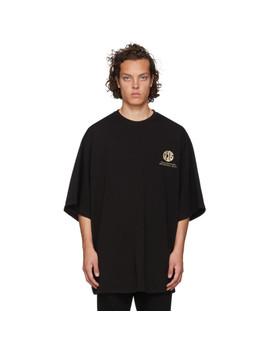 Black Extra Palazzo T Shirt by Gcds