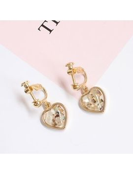 Joodii   Resin Heart Dangle Earring by Joodii