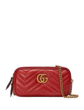 Gg Marmont Mini Zip Top Camera Case Bag by Gucci
