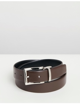 Reversible Saffiano Belt by Emporio Armani