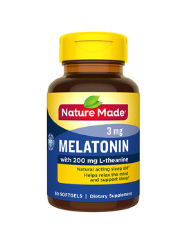 Nature Made Melatonin 3 Mg With 200 Mg L Theanine Softgels N/A, 1 Softgel60.0ea by Walgreens