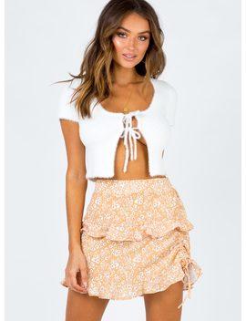 Olwyn Mini Skirt Peach by Princess Polly