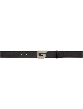 Black G Whistle Buckle Belt by Givenchy