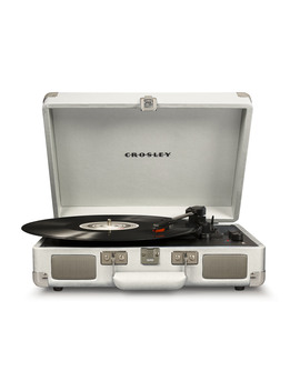 Crosley Cruiser Deluxe Stereo Turntable   White Sand   Cr8005 D Ws by Crosley