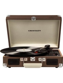 Cruiser Deluxe Bluetooth Portable Turntable   Tweed by Crosley