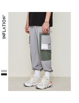 Newin   Couple Drawstring Hem Colorblock Cargo Jogger Pants by Newin