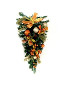 26 In. Unlit Artificial Christmas Swag by Aleko