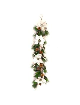 40 In. Unlit Artificial Christmas Pre Decorated Swag by Aleko
