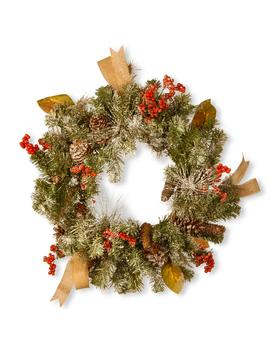 24 In. Snowy Christmas Artificial Wreath by National Tree Company