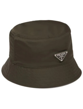 Logo Bucket Hat by Prada