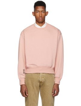 Pink 9 Patch Sweatshirt by Ami Alexandre Mattiussi
