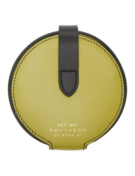 Yellow Circle Coin Purse by Smythson