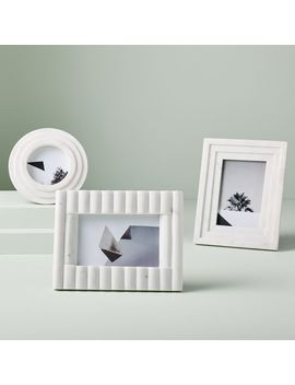 Textured Marble Frames  White by West Elm